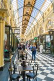 Royal arcade in Melbourne 2. The Royal Arcade is an historic shopping arcade in the central business district of Melbourne, Victoria, Australia Stock Photo