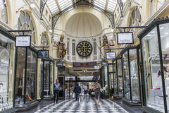 Royal Arcade - Melbourne. Visitors at the Royal Arcade in Melbourne, Australia.It`s a significant Victorian era arcade shopping passage and one of the most Royalty Free Stock Photography