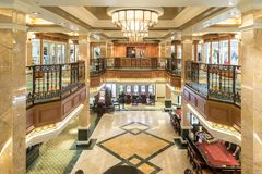 Royal Arcade shops and Casino MS Queen Elizabeth.  Royalty Free Stock Image