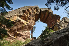 Royal Arch rock formation in Boulder, Colorado. A view of the Royal Arch, a natural stone bridge rock formation in the Rocky Mountains just outside Boulder Royalty Free Stock Photography