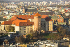 Royal Archcathedral Basilica of Saints Stanislaus and Wenceslaus on the Wawel Hill in Krakow Royalty Free Stock Photos