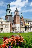 Royal Archcathedral Basilica of Saints Stanislaus and Wenceslaus on the Wawel Hill,Krakow, Poland Royalty Free Stock Photo