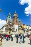 Royal Archcathedral Basilica of Saints Stanislaus and Wenceslaus on the Wawel Hill Stock Image