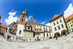 Royal Archcathedral Basilica of Saints Stanislaus and Wenceslaus on the Wawel Hill Royalty Free Stock Images