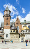 Royal Archcathedral Basilica of Saints Stanislaus and Wenceslaus on the Wawel Hill Stock Photography