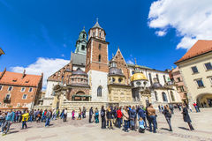 Royal Archcathedral Basilica of Saints Stanislaus and Wenceslaus on the Wawel Hill Royalty Free Stock Photography
