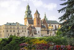 Royal Archcathedral Basilica of Saints Stanislaus and Wenceslaus, Wawel Hill stock photos