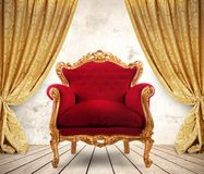 Royal armchair Stock Images