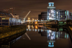 Royal Armouries at night (long exposure) Stock Photography