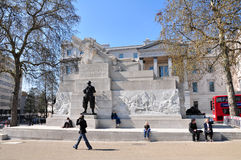 Royal Artillery Memorial, UK. A stone memorial at Hyde Park Corner in London, dedicated to casualties in the Royal Regiment of Artillery in the First World War Royalty Free Stock Photography
