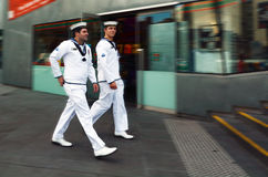 Royal Australian Navy sailors Stock Image