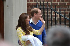 Royal family Kate William princess Charlotte Royalty Free Stock Photography