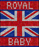Royal baby mosaic Royalty Free Stock Images