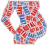 Royal baby. Word cloud illustration. Royalty Free Stock Photography