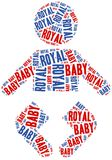 Royal baby. Word cloud illustration. Royalty Free Stock Photos