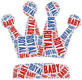 Royal baby. Word cloud illustration. Royalty Free Stock Images