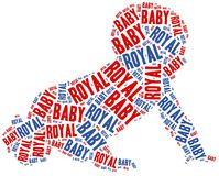 Royal baby. Word cloud illustration. Royalty Free Stock Image