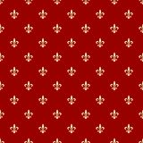 Royal background. Neoclassical royal  background with fleur de lis on the red, full scalable  graphic and 300 dpi JPG Royalty Free Stock Photography