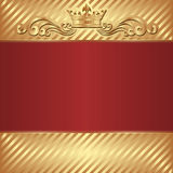 Royal background. Gold and red royal background Stock Image