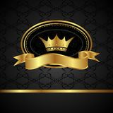 Royal background with golden frame Royalty Free Stock Photos