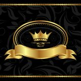 Royal background with golden frame Stock Image