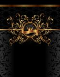 Royal background with golden frame Stock Images