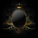 Royal background with golden frame. Vector Royalty Free Stock Photography