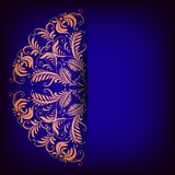 Royal background with lace ornament. Vector royal background with lace ornament and place for text Royalty Free Stock Photos