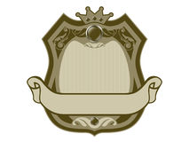 Royal badge with a banner Royalty Free Stock Photo
