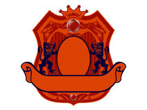 Royal badge with a banner Royalty Free Stock Photography