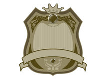 Royal badge with a banner Royalty Free Stock Images