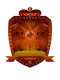 Royal badge with a banner Stock Photos