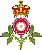Royal badge of England.Heraldic Tudor rose Royalty Free Stock Photo