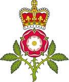 Royal badge of England.Heraldic Tudor rose. And S.Edwards Crown Royalty Free Stock Photo