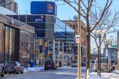 Royal Bank av Kanada, Windsor, Ontario Fotografering för Bildbyråer
