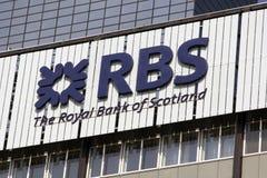 Royal Bank av Skottland RBS Fotografering för Bildbyråer
