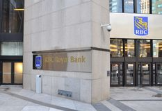 Royal Bank of Canada building. In financial district in downtown Toronto Royalty Free Stock Photos