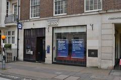 Royal Bank de Escócia ramifica Mayfair Londres Foto de Stock Royalty Free