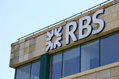 Royal Bank of Scotland. Shot of RBS logo Stock Photo