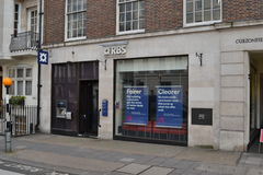 Royal Bank of Scotland branch Mayfair London Royalty Free Stock Photo