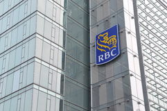 Royal Bank von Kanada-Signage Lizenzfreies Stockfoto