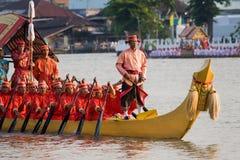 Royal Barge in Bangkok. CHAO PHRAYA RIVER, BANGKOK, THAILAND - NOVEMBER 5: Thai Royal barge travel down Chao Phaya river to celebrate King of Thailand 80th Royalty Free Stock Image