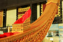 Royal Barge In National Museum of Royal Barges, Bangkok, Thailand. Royal Barge is a ceremonial barge that is used by a monarch for processions and transport on a stock images
