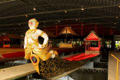 Royal Barge In National Museum of Royal Barges, Bangkok, Thailand. Royal Barge is a ceremonial barge that is used by a monarch for processions and transport on a stock photos