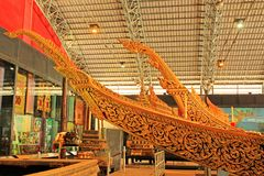 Royal Barge In National Museum of Royal Barges, Bangkok, Thailand. Royal Barge is a ceremonial barge that is used by a monarch for processions and transport on a royalty free stock photos