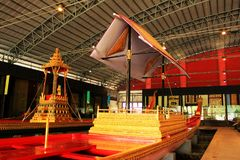 Royal Barge In National Museum of Royal Barges, Bangkok, Thailand. Royal Barge is a ceremonial barge that is used by a monarch for processions and transport on a royalty free stock image