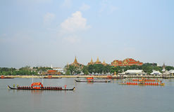 The Royal Barge Procession Rehearsal Royalty Free Stock Photos