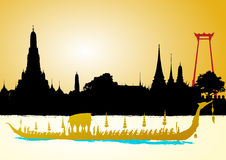 Royal Barge Suphannahong, Wat Arun Royalty Free Stock Photos