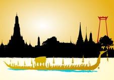 Royal Barge Suphannahong, Wat Arun. Bangkok, Vector Royalty Free Stock Photos