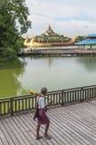 Royal barge in yangon myanmar Stock Image
